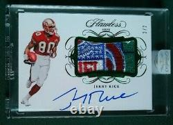 1/1 2019 Flawless 49ers Jerry Rice Autograph Used/Worn SHIELD Patch Auto /2