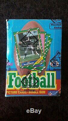 (1) 1986 Topps Football Wax Box BBCE Authenticated Rice, Young RC NO LINE