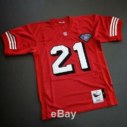 100% Authentic Deion Sanders 94 49ers Mitchell Ness NFL Jersey Size 44 L Mens