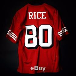 100% Authentic Jerry Rice Mitchell & Ness 49ers NFL Jersey Size 56 3XL