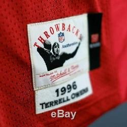100% Authentic Terrell Owens 49ers Mitchell & Ness NFL Jersey Size 52 2XL Mens
