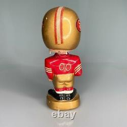 1960's VINTAGE SAN FRANCISCO 49ers FOOTBALL BOBBLE HEAD NODDER JAPAN GOLD BASE
