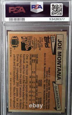 1981 Joe Montana rookie #216 Topps PSA 7 San Francisco 49ers