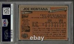 1981 TOPPS FOOTBALL #216 JOE MONTANA RC AUTHENTIC AUTOGRAPH PSA 9 MINT HOF 49ers