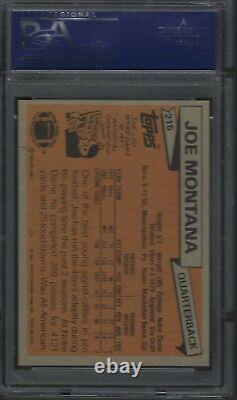 1981 Topps #216 JOE MONTANA HOF 49ERS RC ROOKIE PSA 7 NM-MT FootballCard