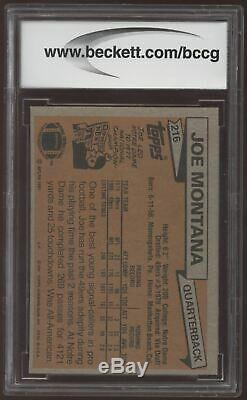 1981 Topps #216 Joe Montana 49ers RC Rookie BCCG 10