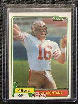 1981 Topps #216 Joe Montana 49ers Rookie RC
