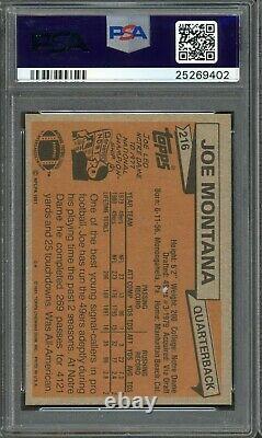 1981 Topps #216 Joe Montana PSA 9