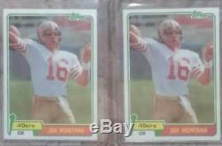 1981 Topps #216 Joe Montana RC 49ers Rookie Card MINT SHARP Centered Clean TWO