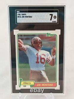 1981 Topps #216 Joe Montana RC Rookie SGC 7 NM (Nice Corners)