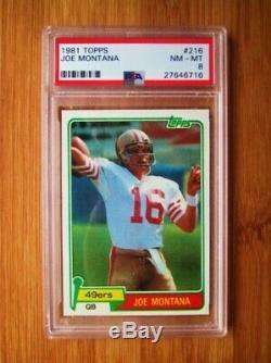 1981 Topps #216 Joe Montana ROOKIE PSA 8 NM-MT
