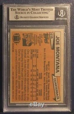 1981 Topps #216 Joe Montana ROOKIE RC BGS 8.5 (with 2-9's)