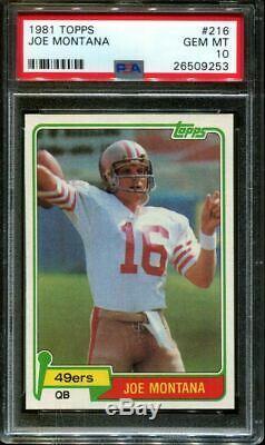 1981 Topps #216 Joe Montana Rc 49ers Hof Psa 10 F2735639-253
