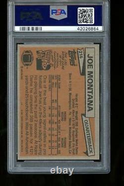 1981 Topps #216 Joe Montana Rc Rookie PSA 8