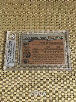 1981 Topps #216 Joe Montana Rookie Card 49ers Bgs Beckett 8.5 Nm-mt+