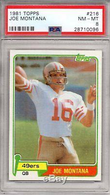 1981 Topps #216 Joe Montana Rookie Card PSA 8 NMMT San Francisco 49ers