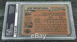 1981 Topps #216 Joe Montana Rookie Psa 8 Sharp