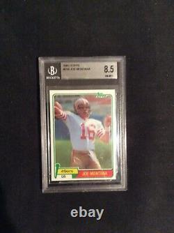 1981 Topps Football #216 Joe Montana 49ers RC Rookie BGS 8.5
