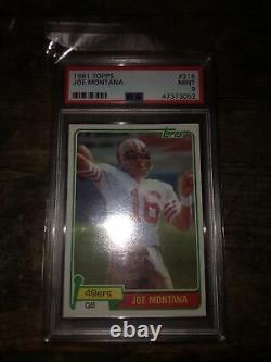 1981 Topps Football #216 Joe Montana 49ers RC Rookie HOF PSA 9 MINT