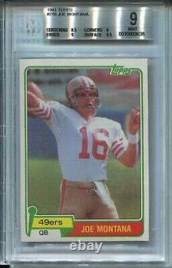 1981 Topps Football 216 Joe Montana 49ers Rookie Card RC Graded BGS Mint 9 w 9.5
