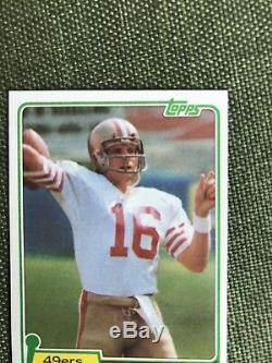 1981 Topps Football #216 Joe Montana Hof Rc Rookie Centered Mint Card