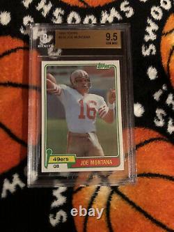 1981 Topps Football Joe Montana ROOKIE RC#216 BGS 9.5 GEM MINT