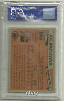 1981 Topps Football Joe Montana ROOKIE RC #216 PSA 10 GEM MINT