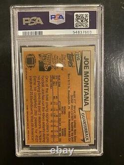 1981 Topps Football Joe Montana ROOKIE RC #216 PSA 8 NM-MT 49ers Fresh Grade
