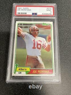 1981 Topps Football Joe Montana ROOKIE RC #216 PSA 9 MINT