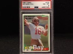 1981 Topps Football Joe Montana Rc #216 Psa 8 (well Centered)great Rookie Card