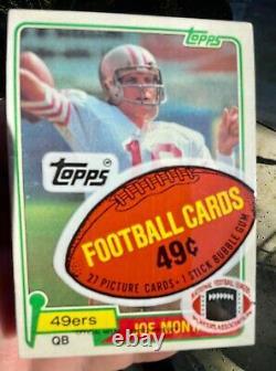 1981 Topps Football Unopened Cello Pack (Sharp Joe Montana RC on Top). Rare
