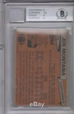 1981 Topps JOE MONTANA #216 BGS 6.5 BAS 10 Auto Autograph Rookie RC EX-Mint