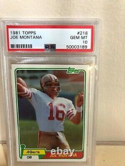 1981 Topps JOE MONTANA Rookie Card #216 PSA 10 RC GEM MINT RARE HOF 49ers