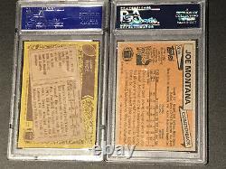 1981 Topps JOE MONTANA Rookie PSA 9 and JERRY RICE 1986 PSA 7 Topps Rookie Card
