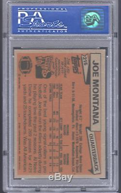1981 Topps JOE MONTANA Rookie RC 49ers HOF PSA 7 NM CENTERED