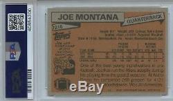1981 Topps Joe Montana #216 PSA 9 Hall of Fame Rookie San Francisco 49ers RC
