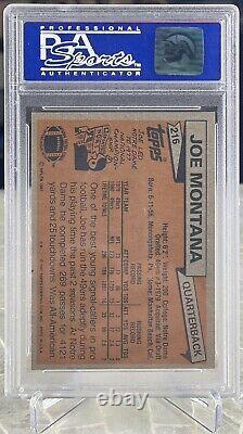 1981 Topps Joe Montana #216 RC Rookie PSA 9 Mint