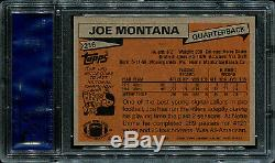 1981 Topps Joe Montana HOF ROOKIE RC #216 PSA 9 MINT