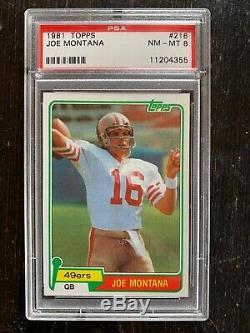 1981 Topps Joe Montana PSA 8 + Troy Aikman + Emmitt Smith + Jerry Rice + Barry S