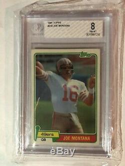 1981 Topps Joe Montana RC #216 BGS 8 NM/MT