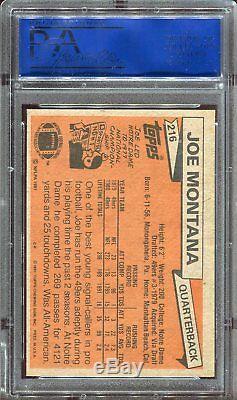 1981 Topps Joe Montana RC #216 HOF PSA 8.5