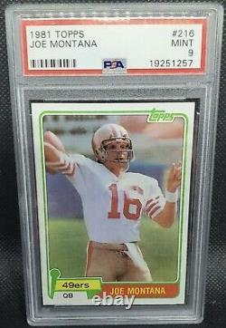 1981 Topps Joe Montana RC Rookie #216 PSA 9 MINT 49ers