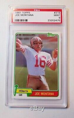 1981 Topps Joe Montana RC Rookie #216 PSA 9 Mint Centered Beauty 49ers