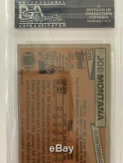 1981 Topps Joe Montana RC psa 9