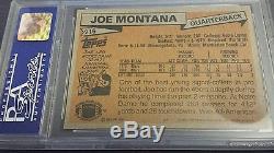 1981 Topps Joe Montana ROOKIE RC #216 PSA 8 NM-Mint 49ers Very Old Label Regrade