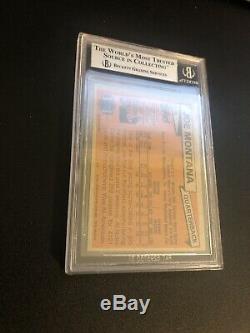 1981 Topps Joe Montana Rookie #216 Rc Bgs 8.5