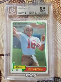 1981 Topps Joe Montana Rookie Card #216 Football Card