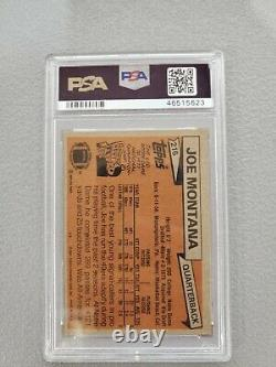 1981 Topps Joe Montana Rookie Card RC #216 49ers PSA 6