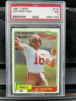 1981 Topps Joe Montana Rookie Card RC #216 PSA 7 NM 49ers Beauty