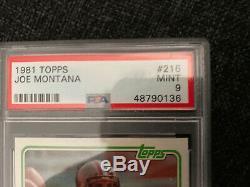 1981 Topps Joe Montana Rookie PSA 9 Beautiful Card